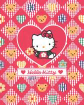 Hello Kitty greeting card in red