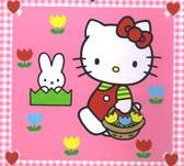 Hello Kitty holding flower basket