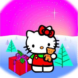 Hello Kitty holiday card