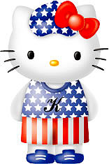 Hello Kitty america flag outfit