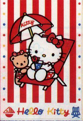 Hello Kitty card with beachy picture