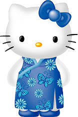 Hello Kitty chinese dress in blue