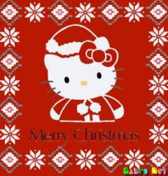 Hello Kitty christmas greeting card