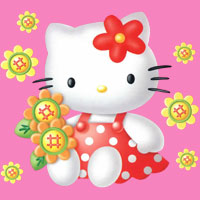 Hello Kitty cute red dress